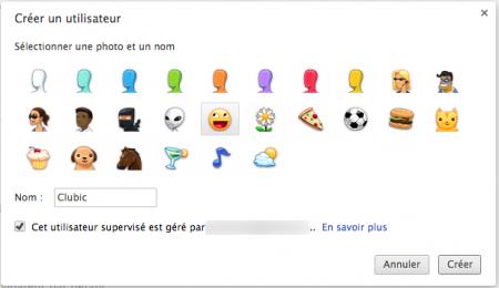 Créer un compte pour son enfant sur Google Chrome