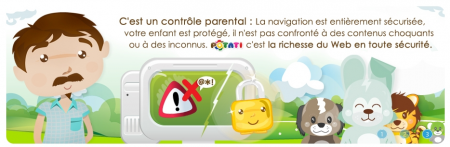 Potati : logiciel de contrôle parental et navigateur web