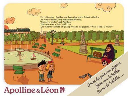 Livre interactif pour les enfants à télécharger sur ipad : Apolline et Léon